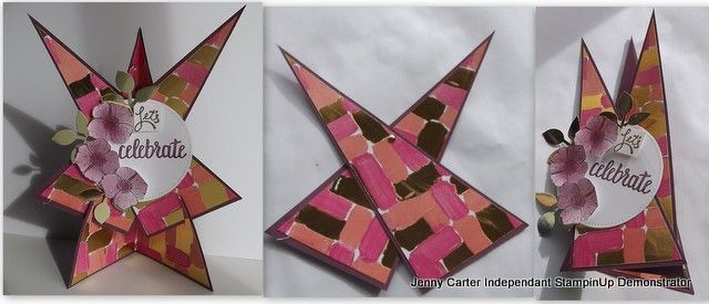 Star effect card using SAB stamp Amazing You, this show how to make so can fold into envelope