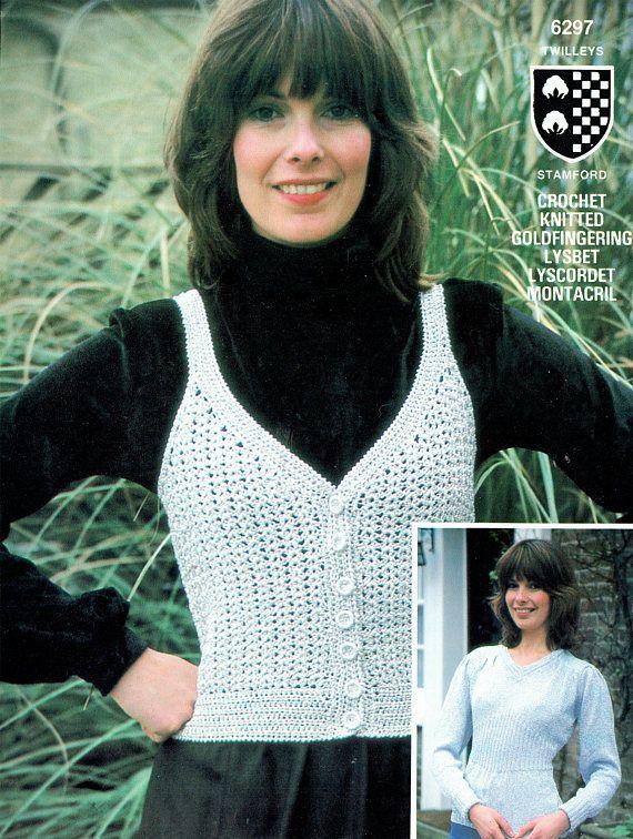 PDF Vintage Womens Ladies Sweet Heart Tank Top Waistcoat Tunic