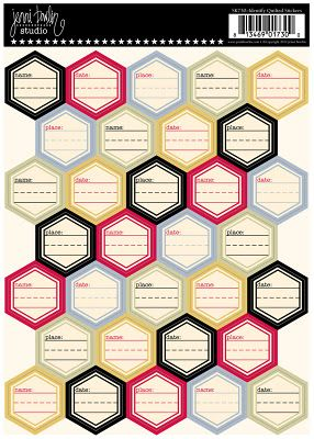 Oy! Quilted stickers from JBS! Looks pwetty!Scrapbook Ideas, Jenny Bowline, Identifying Quilt, Scrapbook Tools, Cardstock Stickers, Bowline Studios, Hexagons, Projects Life, Quilt Stickers