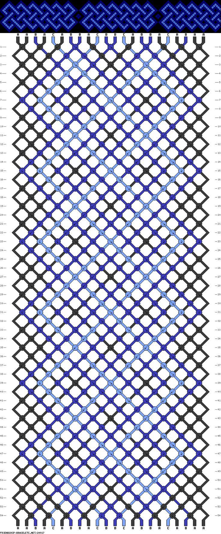 #24917 - friendship-bracelets.net, blue celtic pattern