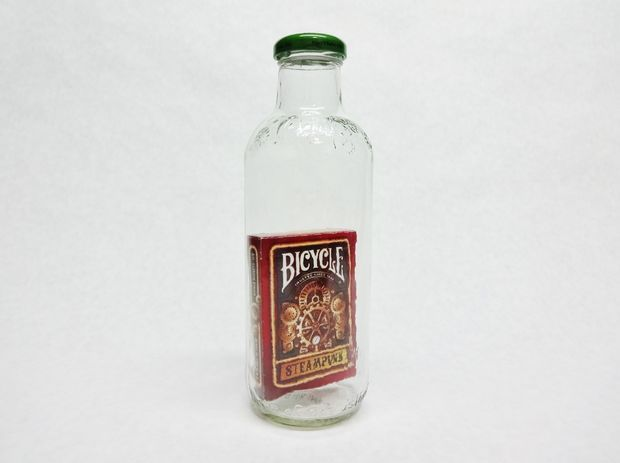 Deck of Cards in a Bottle (It's a puzzle!)