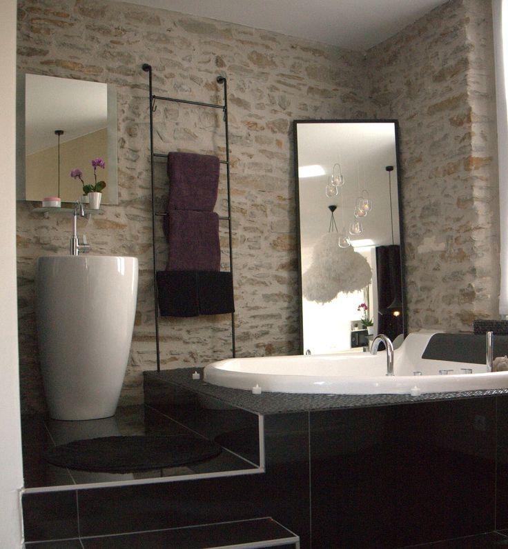Les 25 meilleures id es concernant salle de bains brique for Briquette salle de bain