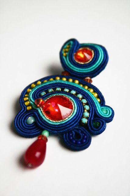 Klein Blue / cobalt earrings / astral pink swarovski crystals / colorful wedding earrings / bridal jewelry