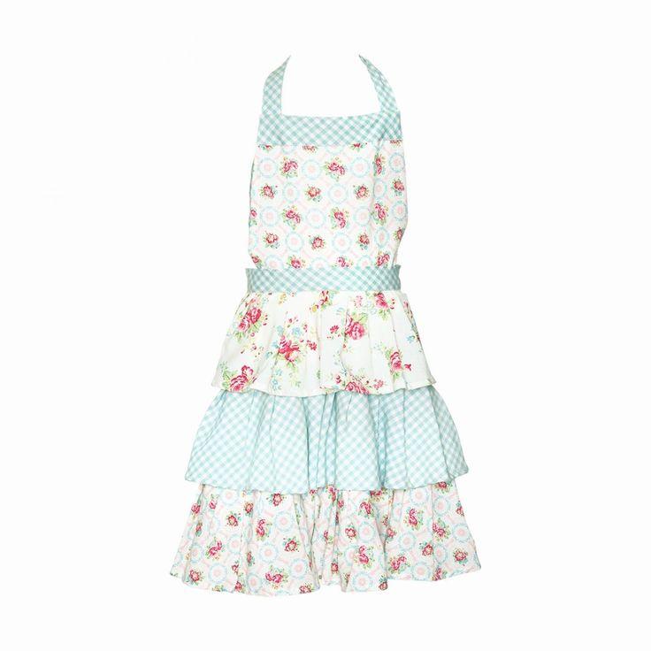 Kuchyňská zástěra s vrstvenou sukní pro malé slečny