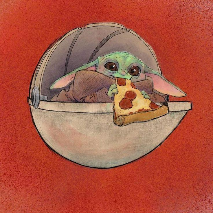 Baby Yoda Drawings Imagine The Child Enjoying Junk Food of ...