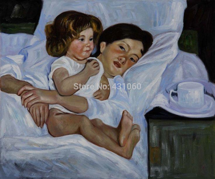 Картина маслом холстины Мэри Кассат импрессионизм Современная качественная Ручная роспись бесплатная доставка Завтрака в Кровать