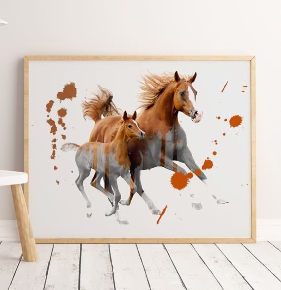 Horse Art Animal Wall Prints Animal Art Horse Print by ENORASIS
