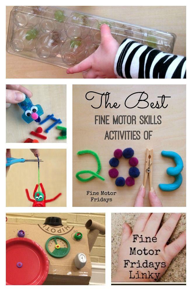 The Best Fine Motor Skills Activities of 2013 (A Fine Motor Fridays Linky!) - LalyMom  #CreativeMamas #KBNMoms #FineMotor #PlayMatters