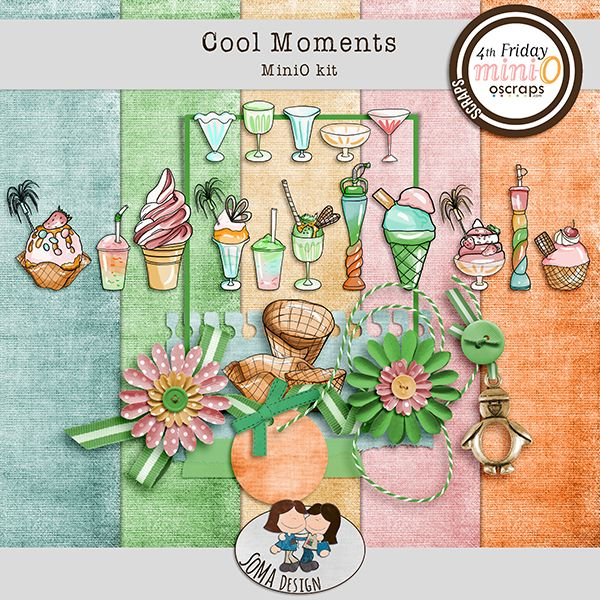 Oscraps.com :: Shop by Category :: All New :: SoMa Design: Cool Moments - MiniO kit