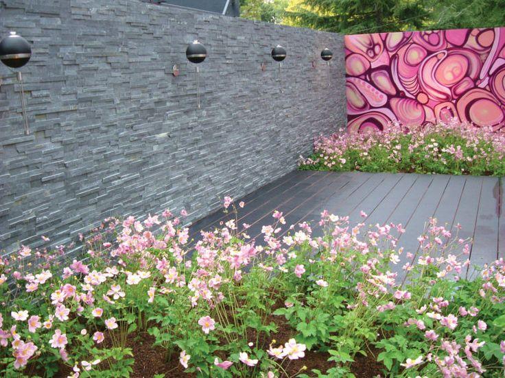 Stonewall panel: Lang Lang stone wall panel garden wall
