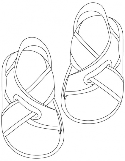 sandals coloring pages