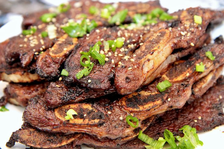 Kalbi Recipe: Korean BBQ Short Ribs   Food - SAVORY RECIPES   Pintere ...