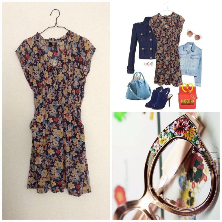 Venta ropa segunda mano Second hand dress http://loszapatosqueseanrojos.bigcartel.com #sales #secondhand #segundamano #mango #dress #vestido #flowers