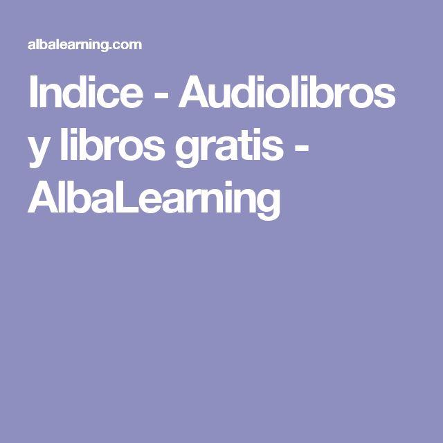 Indice - Audiolibros y libros gratis - AlbaLearning