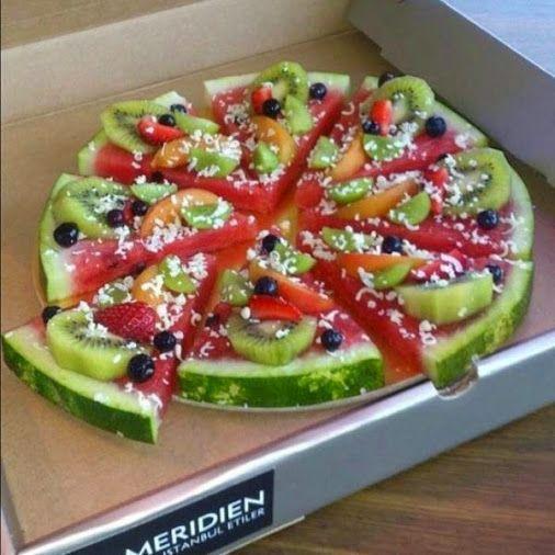 Fruchtige Fruchtpizza