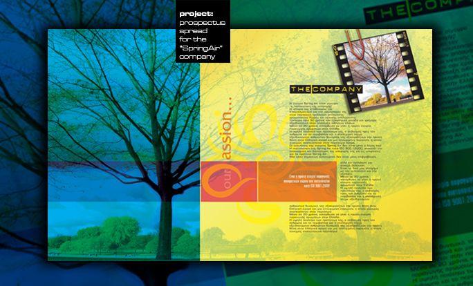"by Argiro Stavrakou, year 2004, ""Spring Air"" company profile main spread."
