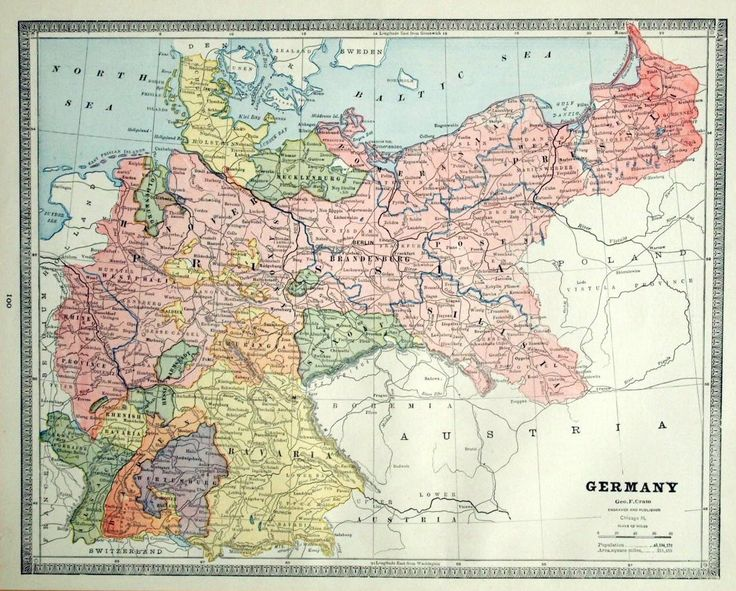 Map of Prussia from the 1880s ~ Westphalia and the Rhine Province