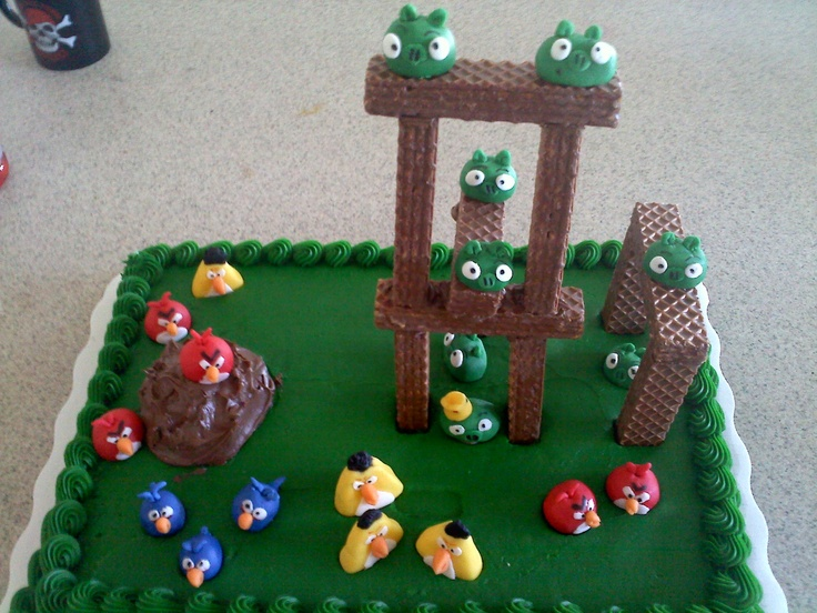1000 images about angry bird party on pinterest free for Angry birds cake decoration kit