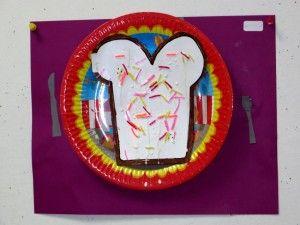 Brood op bord, hagelslag van scoubidou, kleuteridee.nl ,thema bakker voor kleuters