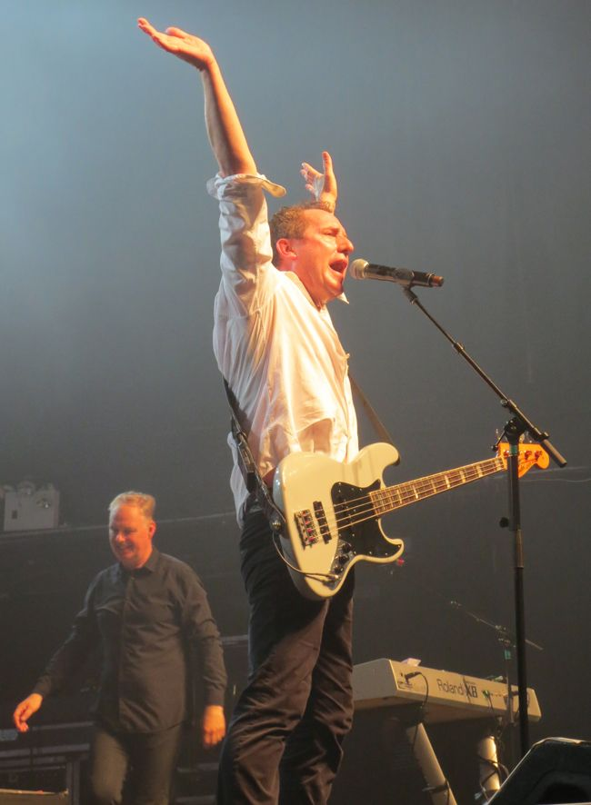 Andy McCluskey and Paul Humphries of OMD at Terminal 5 in NYC.