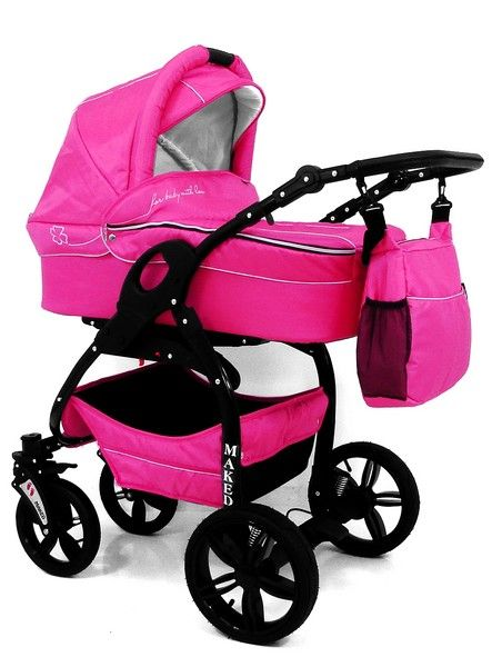 Lucky Pink Travel System Pram 3in1 , Cheap Baby Accessories in Poole, Dorset and UK