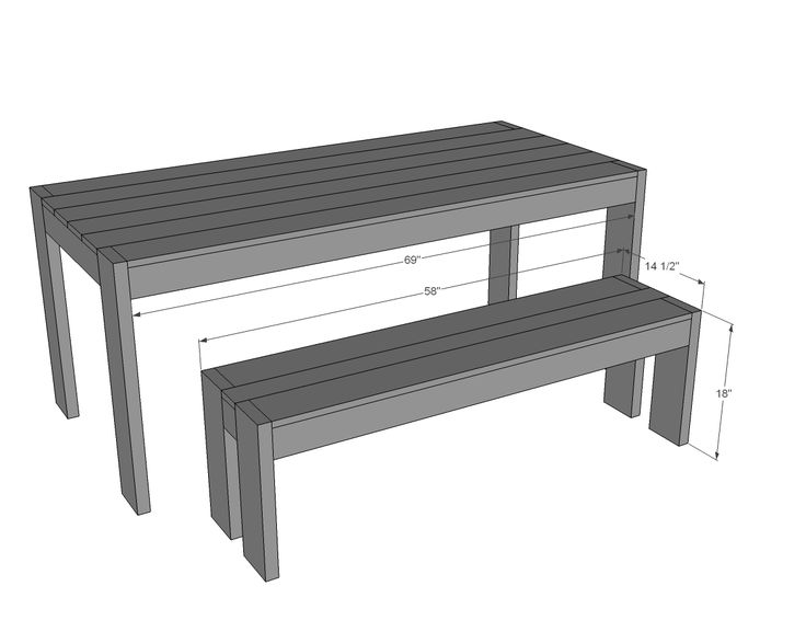 Ana White | Build A Modern Farm Bench   New/Updated Pocket Hole Plan |