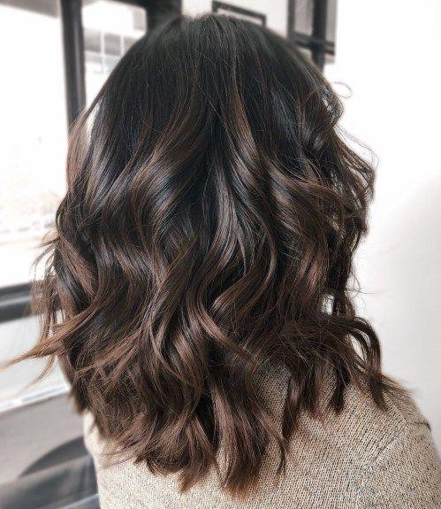 Shiny Chocolate Balayage Hair