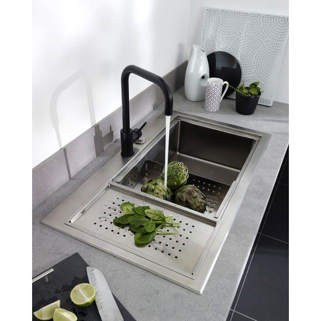 amazing vier inox encastrer paniers inox cobalt castorama. Black Bedroom Furniture Sets. Home Design Ideas
