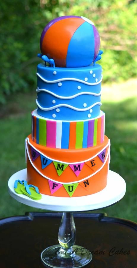 Pool Party Cake - Cake by Elisabeth Palatiello
