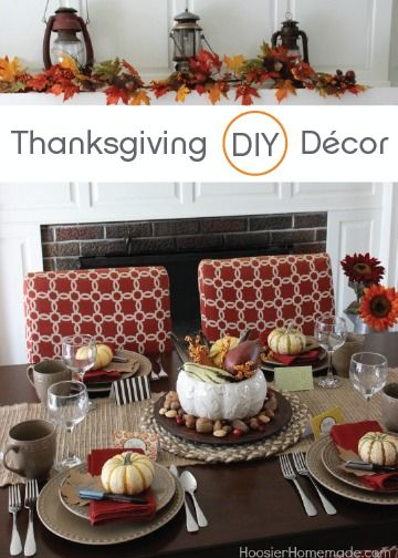Simple Thanksgiving Table Decoration