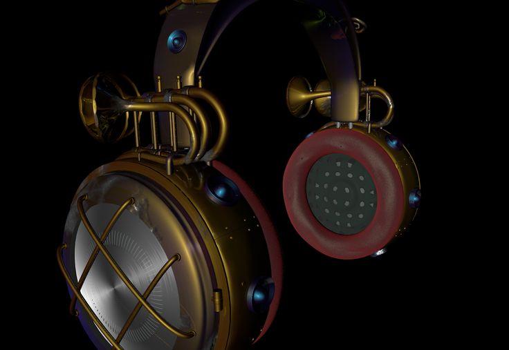 3d headphones design