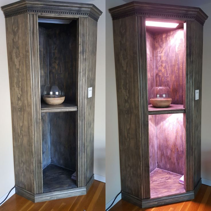 Late christmas present for wife. 7 ft tall corner plant shelving unit with lights and timers http://ift.tt/2qfqhAE