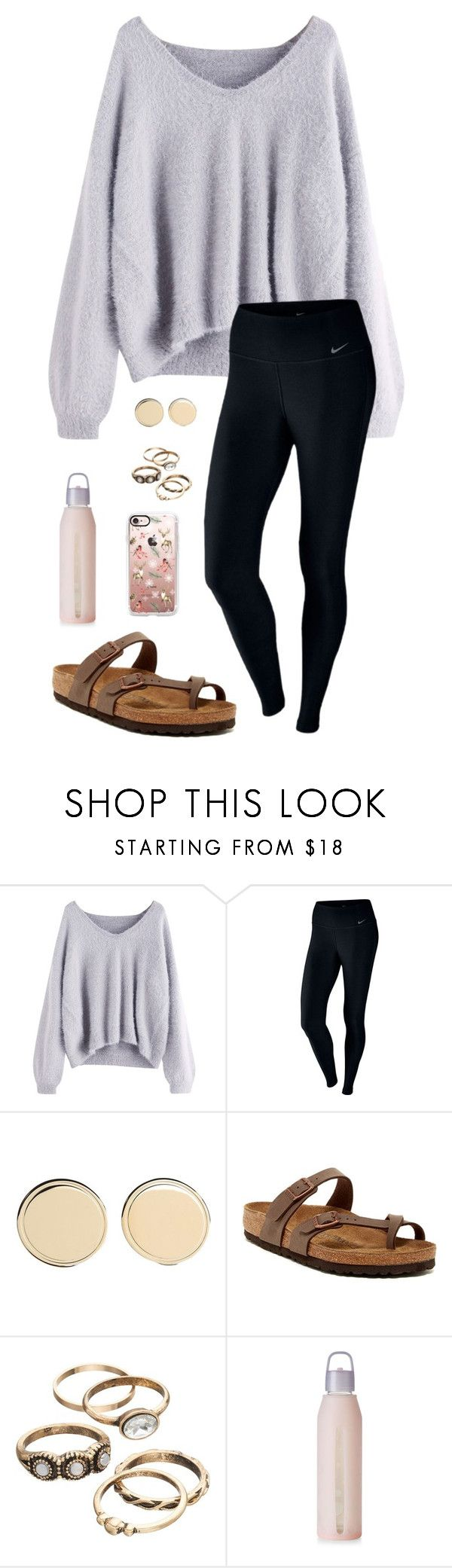 """I am SO NOT READY FOR SCHOOL TOMORROW "" by trujilloxochitl ❤ liked on Polyvore featuring NIKE, Givenchy, Birkenstock, lululemon and Casetify"