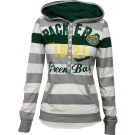 Green Bay Packers YAC Women's Striped Hoodie
