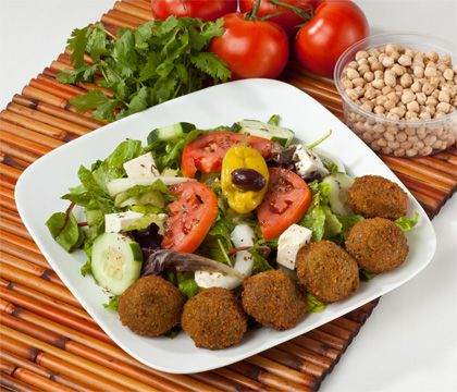 Falafel Salad Traditional Dishes - Traditional Persian Dishes to Take Out, Catering