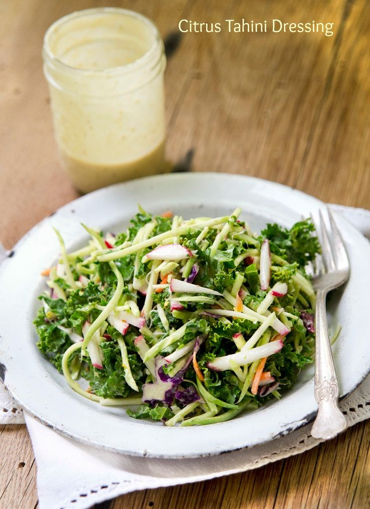 Citrus Tahini Dressing from Let Them Eat Vegan: 5 Salad Dressings and Sauces You Will LOVE!