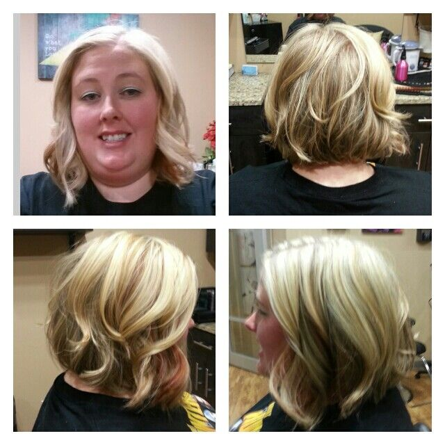 inverted bob short hairstyle long layers curly wavy more inverted bob ...