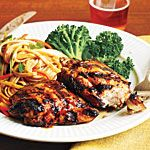 Glazed Chicken and Szechuan Noodle Salad Recipe | MyRecipes.com