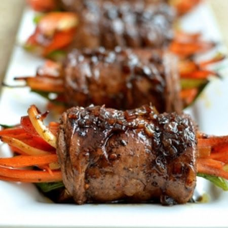 Balsamic Glazed Steak Rolls - make your own Worcestershire sauce and replace the sugar with coconut palm sugar