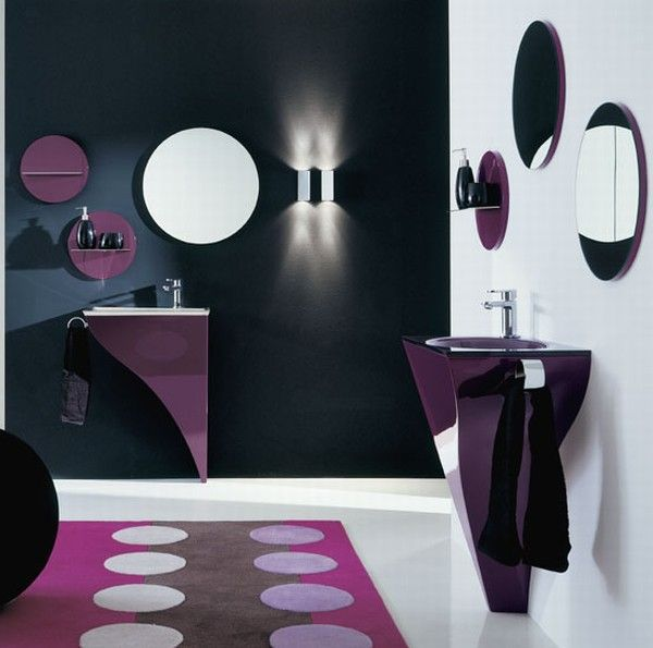 Purple bathroom interior ideas