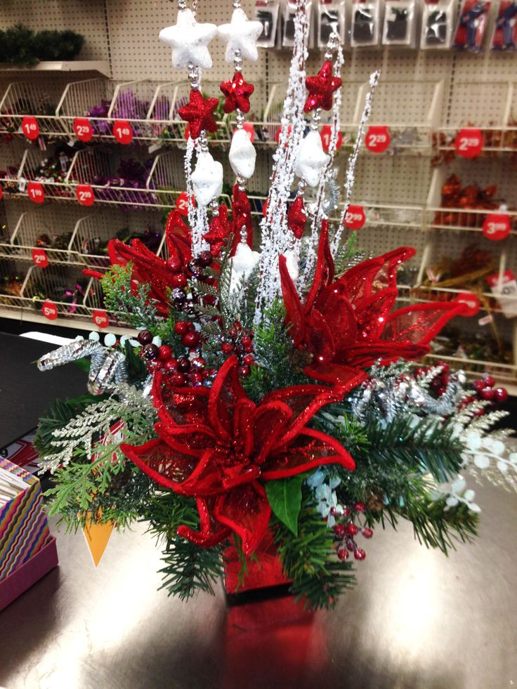 Best christmas winter floral arrangements images on