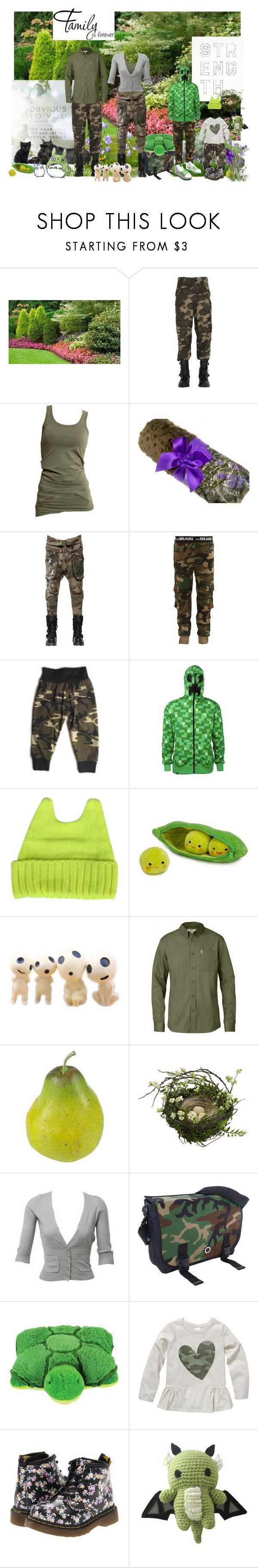 """Family Outing"" by verysmallgoddess ❤ liked on Polyvore featuring Faith Connexion, Vila Milano, Minecraft, Disney, Fjällräven, Nearly Natural, DadGear, Pillow Pets, Dr. Martens and WALL"