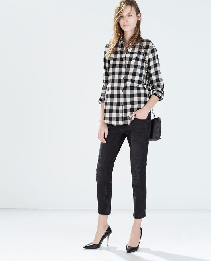 8 best Look Vichy Noir images on Pinterest   Checked shirts, Shirts ...
