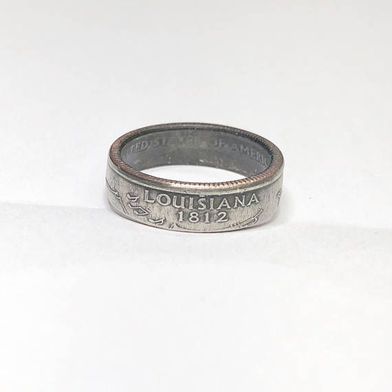 "Louisiana Quarter Coin Ring ""link in bio"" https://www.etsy.com/listing/586019667/louisiana-coin-ring-coin-jewelry-quarter?ref=shop_home_active_62&utm_content=buffer3feb7&utm_medium=social&utm_source=pinterest.com&utm_campaign=buffer #instagood #photooftheday #love #instadaily #picoftheday #unitedstates #usa #coinart #coinrings #coins #money #currency #jewelry #jewellery #metal #cash #wedding #statecoins #bloggers #blogger #rings #jewelrygram"