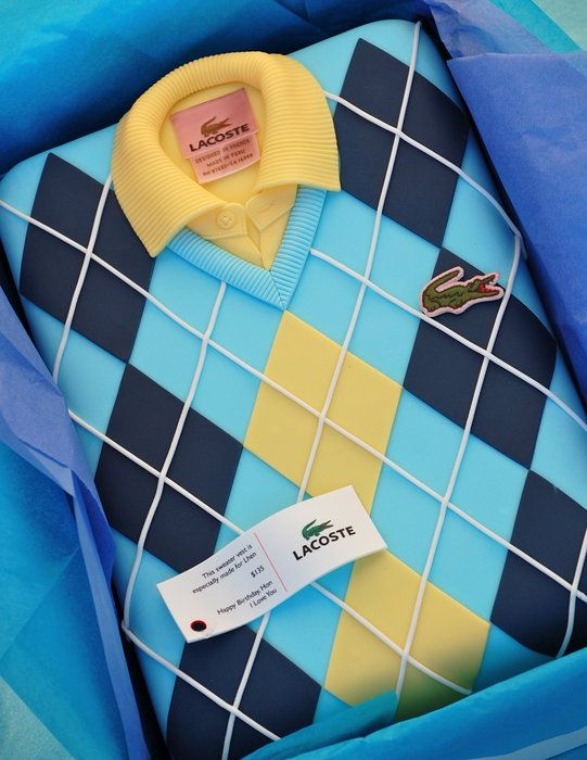 Sweater and Polo Shirt by Royal Bakery (11/8/2012)  View details here: http://cakesdecor.com/cakes/35719