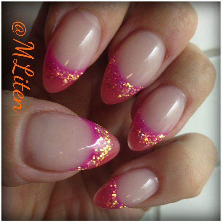 Pink gelnails Rosa gelnaglar