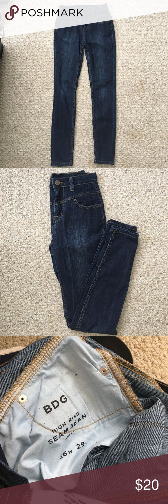 Urban Outfitters BDG high waist denim Urban Outfitters BDG blue high rise Sean jean ankle. Size 26w 29L BDG Jeans Skinny