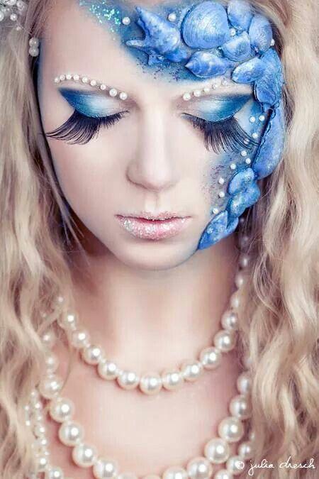 Halloween mermaids make up