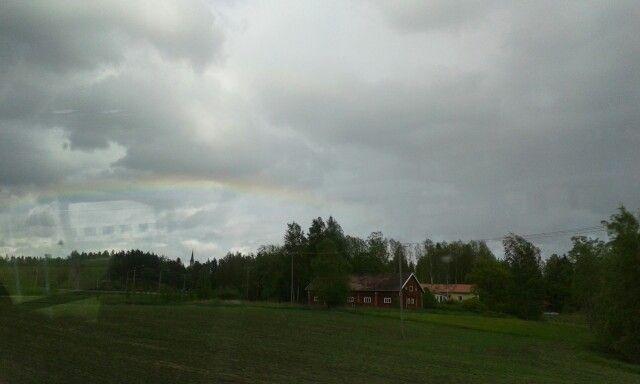 On my last journey back to Jyväskylä // Poslední cesta zpět do Jyväskylä #rainbow