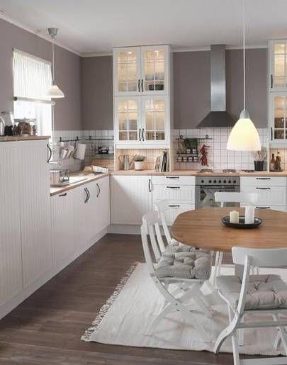 die 25 besten ideen zu k che wei grau auf pinterest wei e graue k chen mintgr n k che und. Black Bedroom Furniture Sets. Home Design Ideas